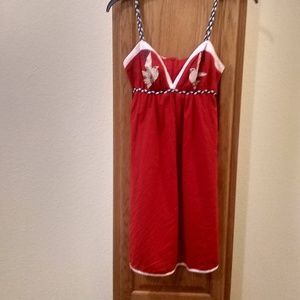 Voom Red Baby Doll Dress size XS